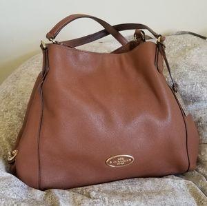 Coach spacious brown leather handbag